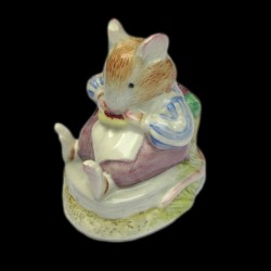 "Beatrix Potter Souris mangeant une tartine ""Mr. Toadflax"" 7 cm"