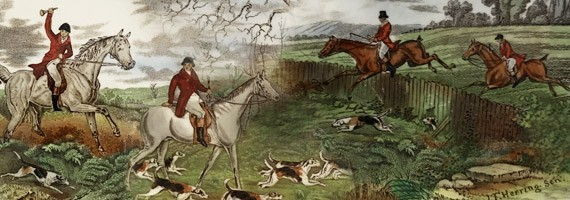 Hunting scene printed by John Frederick Herring