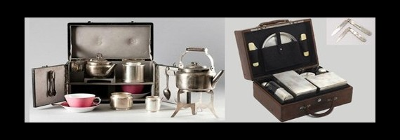 Traveling, Tea suitcases