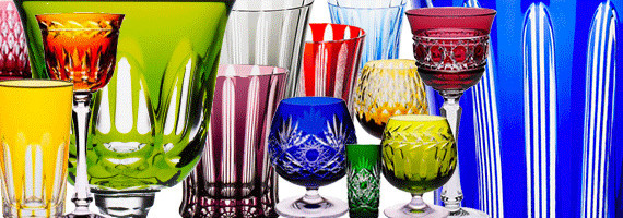 Colored crystal and glasses