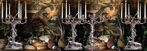 Candelabras, candlesticks